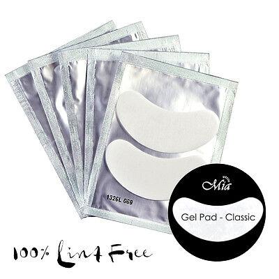 (Lots: 25~300 prs) Classic Lint Free Gel Eye Pads Patch Eyelash Extension