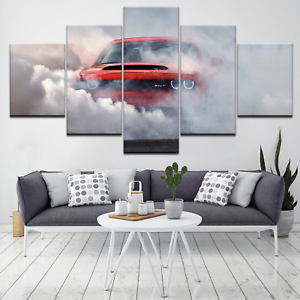 Details About Extreme Car Drift Racing Sport 5 Panel Canvas Wall Art Home Decor Poster Print