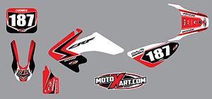 Custom Graphics, Full Kit For Honda CRF 50  2004 - 2012 SCREECH style stickers