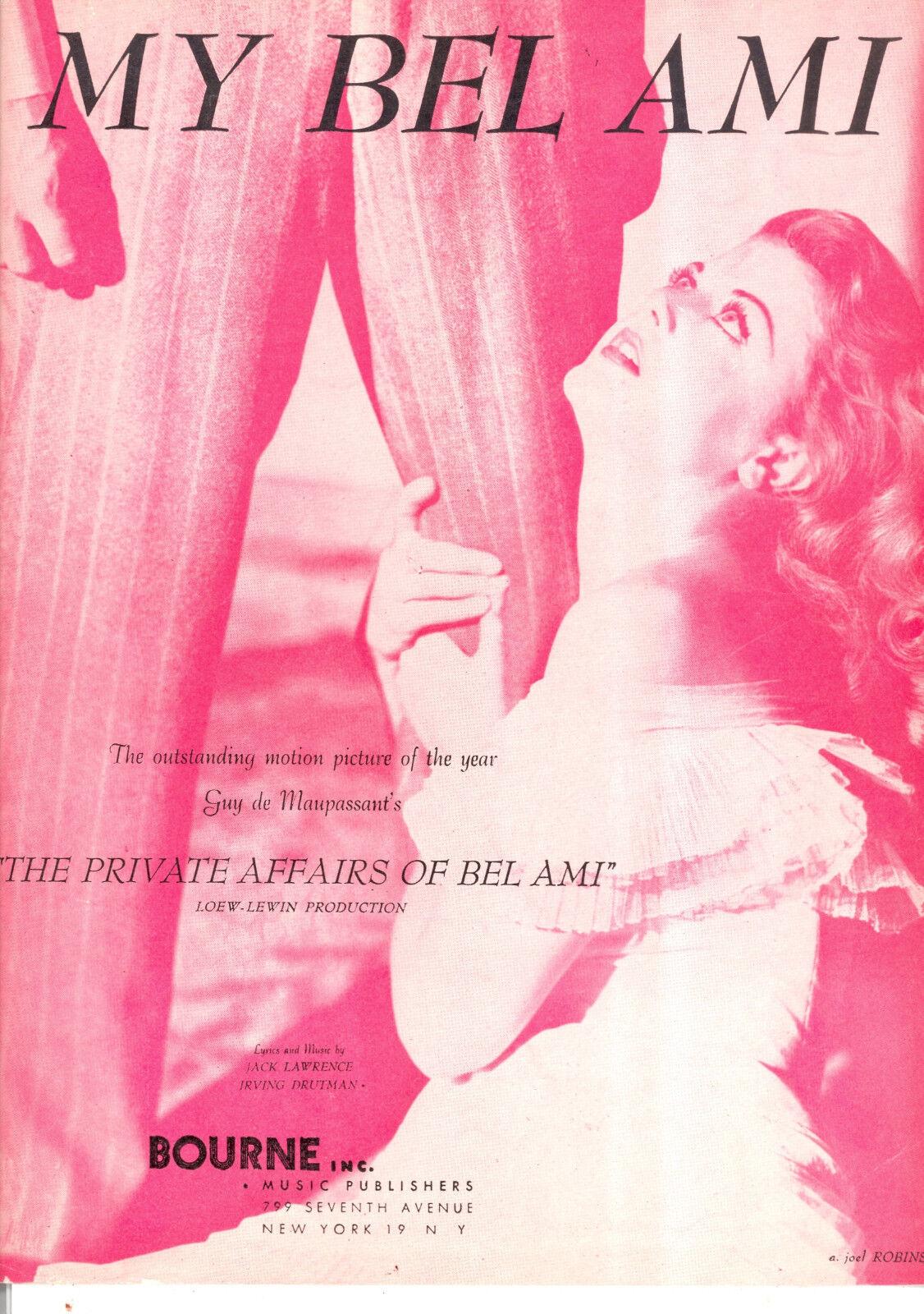Asunto privado de Bel Ami partituras  Mi Bel Ami Ami Ami  Angela Lansbury  Nuevos productos de artículos novedosos.