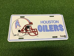 096cc565 Details about NEW Retro Vintage HOUSTON OILERS NFL White Metal LICENSE  PLATE Truck Car 1993