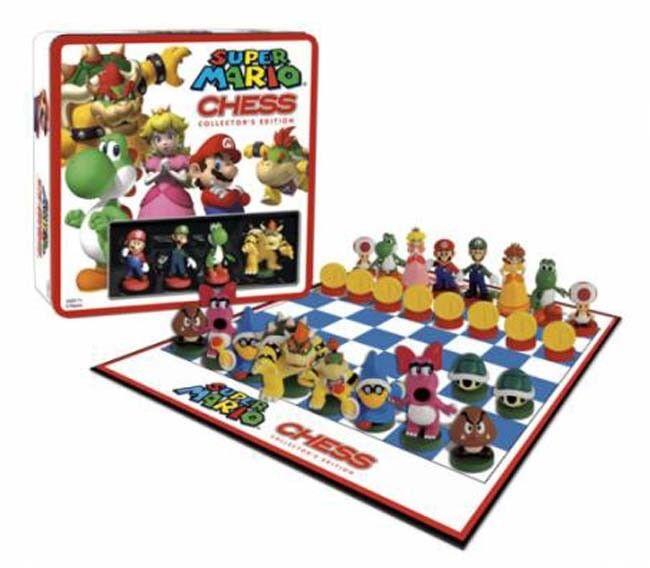SUPER  Mario-Chess edizione per collezionisti in una scatola di latta  fantastica qualità