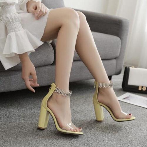 Sabot Chiaro Strass Cm Eleganti Sandali 10 Simil Pelle Cw004 Quadrato XERwwa
