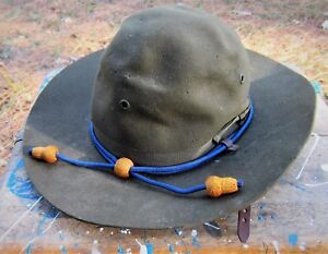 ARMY-Air-Corps-WWII-Trooper-Calvary-Drill-Sergeant-Fur-Felt-Campaign-Hat