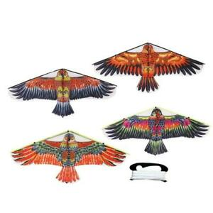 Portable-Nylon-Triangle-Eagle-Rasen-Lenkdrachen-Sport-Kinder-Spielzeug-P2S2