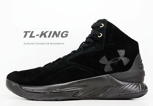 fbd1d7bd Under Armour UA Curry 1 Lux Mid Black SDE Suede 600 Pairs Limited ...