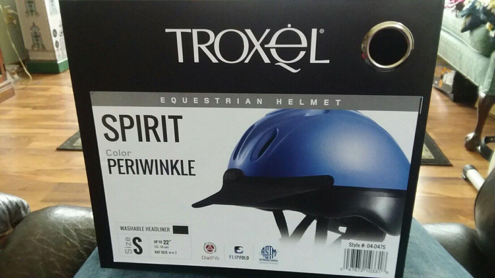 Troxel Spirit Riding Helmet Periwinkle  Medium NEW Small