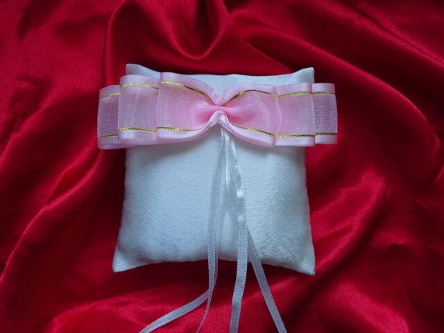 "Satin wedding ring cushion / pillow pocket size 4""x4"" ( 10cmx10cm) 14 colours!!!"