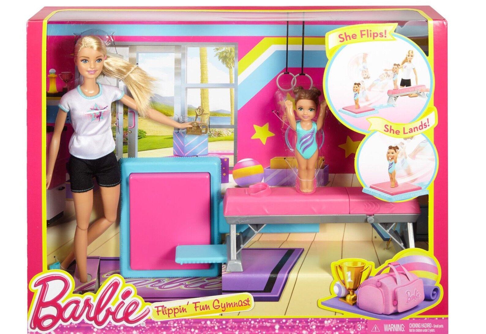 Nuovo Barbie Professioni Saltellante DiGrünente Ginnasta Set Gioco