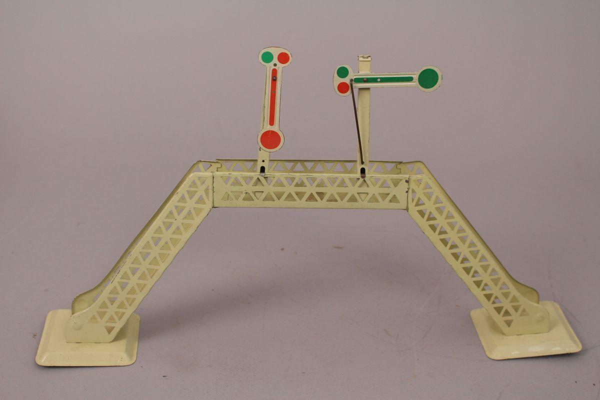 Konrad Dressler Railroad Bridge Signals Bridge Sheet Metal Toy