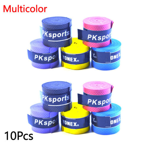 10pcs Over Grip Tape Squash Band Absorb Sweat Anti-slip Grip Tape Stretchy