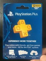 Sony PSN PlayStation Plus 1 Year 12 Months Membership PrePaid Card