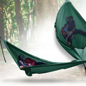 Double-Camping-Hammock-2-Two-Person-Outdoor-Parachute-Tent-Travel-Hanging