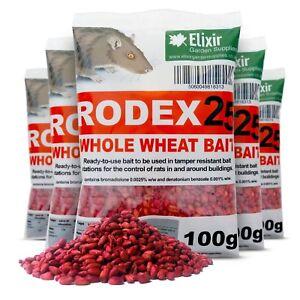Rodex25 Rat Poison Mouse Killer Strong Whole Wheat Bait | 1kg - 20kg