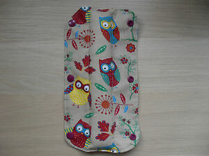 Kids-Handmade-Seat-Belt-Pad-Reversible-Owls-Red-white-polka-dot-46