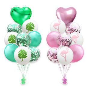 Flamant-Rose-Ananas-Tres-Grandes-Confettis-Rempli-Ballons-Feuille