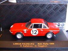 LANCIA FULVIA HF #12 RAC RALLY 1969 KALLSTROM HAGGBON IXO RAC097 1/43 LHD