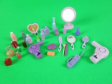 Lot Barbie Doll Dollhouse Miniature Purple TOILETRIES VANITY SALON Accessories