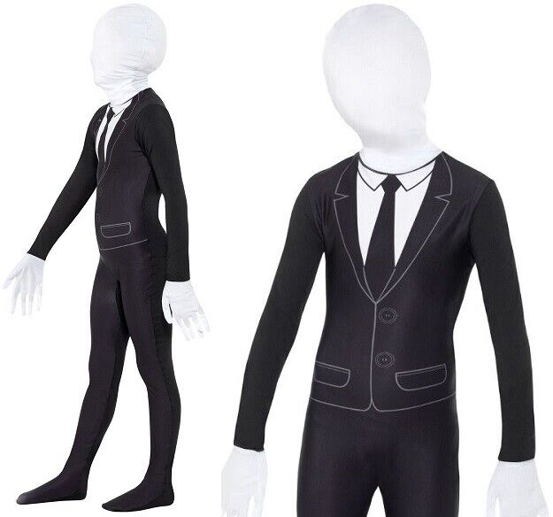 Childs Halloween Supernatural Slender Boy Fancy Dress Costume Outfit by Smiffys