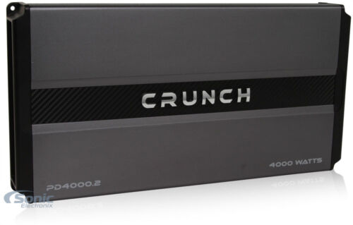 Crunch Power Drive 4000 Watt RMS 2 Channel AB Car Audio Power Amplifier PD4000.2