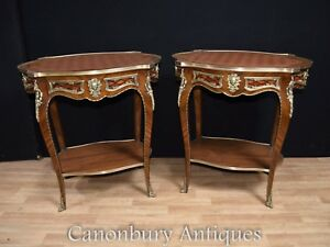 Image Is Loading Pair Louis Xvi Side Tables Tail Table Furniture