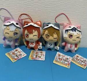 IDOLISH7 Plush Doll Taiko no Tatsujin Kira DoL Set of 4 Complete Riku Momo