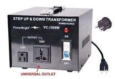Travel's Voltage Converter 2000 Watt 220/240V to 110/120V AC Step Up/Down