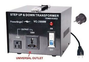 Travel-039-s-Voltage-Converter-2000-Watt-220-240V-to-110-120V-AC-Step-Up-Down