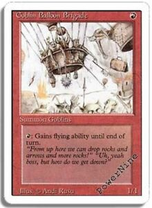 Details about 4 PLAYED Goblin Balloon Brigade - Red Revised 3rd Edition Mtg  Magic Uncommon 4x