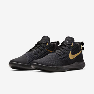 meet c78fb a7057 Image is loading Nike-Lebron-Witness-3-III-Black-Gold-Mens-