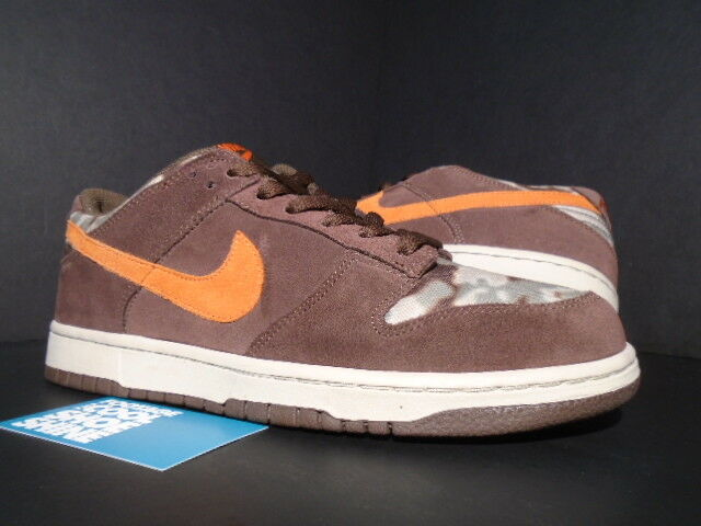 2006 Nike SB Dunk Low Premium OLIVE ORANGE CHOCOLATE BROWN CAMO 9