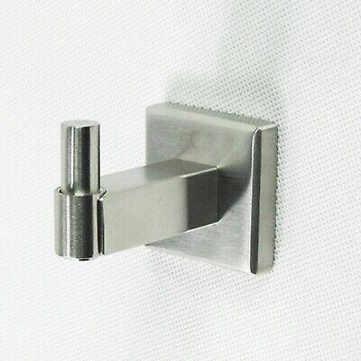 Gehoorzaam Single Hook Holder Stainless Steel Matt Robe Towel Jacket Coat Bathroom Square