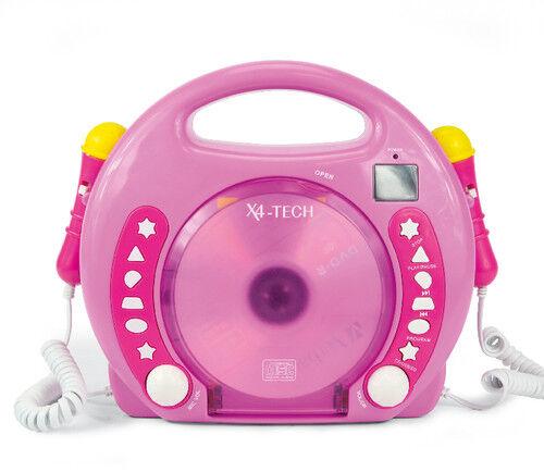 Karaoke CD Player MP3 2 Mikrofone girl//pink
