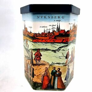 E. Otto Schmidt Nuremberg Germany Collectible Cookie Tin Storage Container