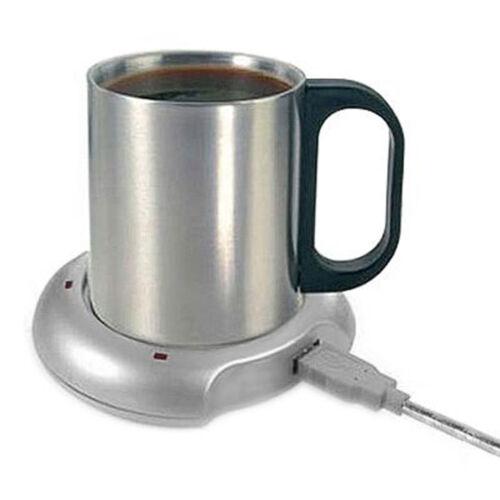 Calentador-Calentador-Rapido-USB-Te-Cafe-Taza-Taza-Pad-4-PORT-USB-HUB-Laptop-PC-de-la-oficina