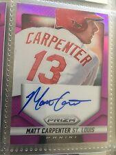 MATT CARPENTER 2014 Prizm REFRACTOR Autograph Auto No 59 /99 Signed Cardinals