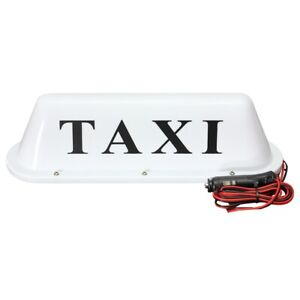 White Waterproof Taxi Magnetic Base Roof Top Car Cab LED Sign Light Lamp 12 P1B8