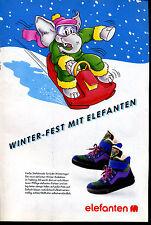 elefanten -- Schuhe - Winter - FEST - mit Elefanten -- Werbung von 1990--