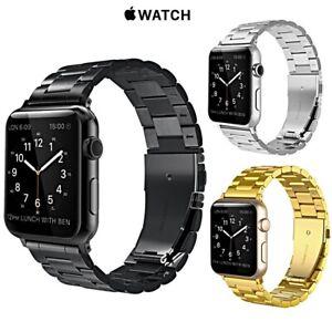 CINTURINO-per-Apple-Watch-series-5-4-3-2-1-ACCIAIO-INOX-INOSSIDABILE-44-42-mm