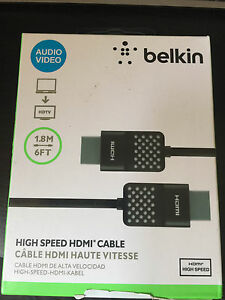 Belkin High Speed Hdmi Cable 1 8m For Xbox Ps3 Ps4 Blu