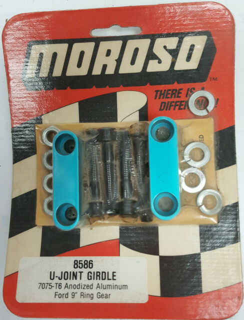"Moroso 85860 9"" Ford 1-1/8"" U Joint girdles 7076T billet aluminum with hardware"