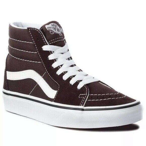 Vans sk8-hi chocolate black sneaker shoes men size 11.5