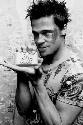 FIGHT CLUB ~ TYLER DURDEN SOAP BAR ~ 24x36 MOVIE POSTER ~ Brad Pitt