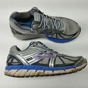 92edeef818bb7 Brooks Beast 16 Mens Running Shoes Sz 9.5 M Gray Silver Blue ...