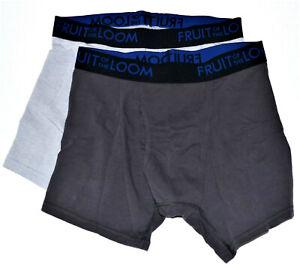 Fruit Of The Loom Men's Boxer Briefs Sz M Medium 2 Underwear Breathable Great