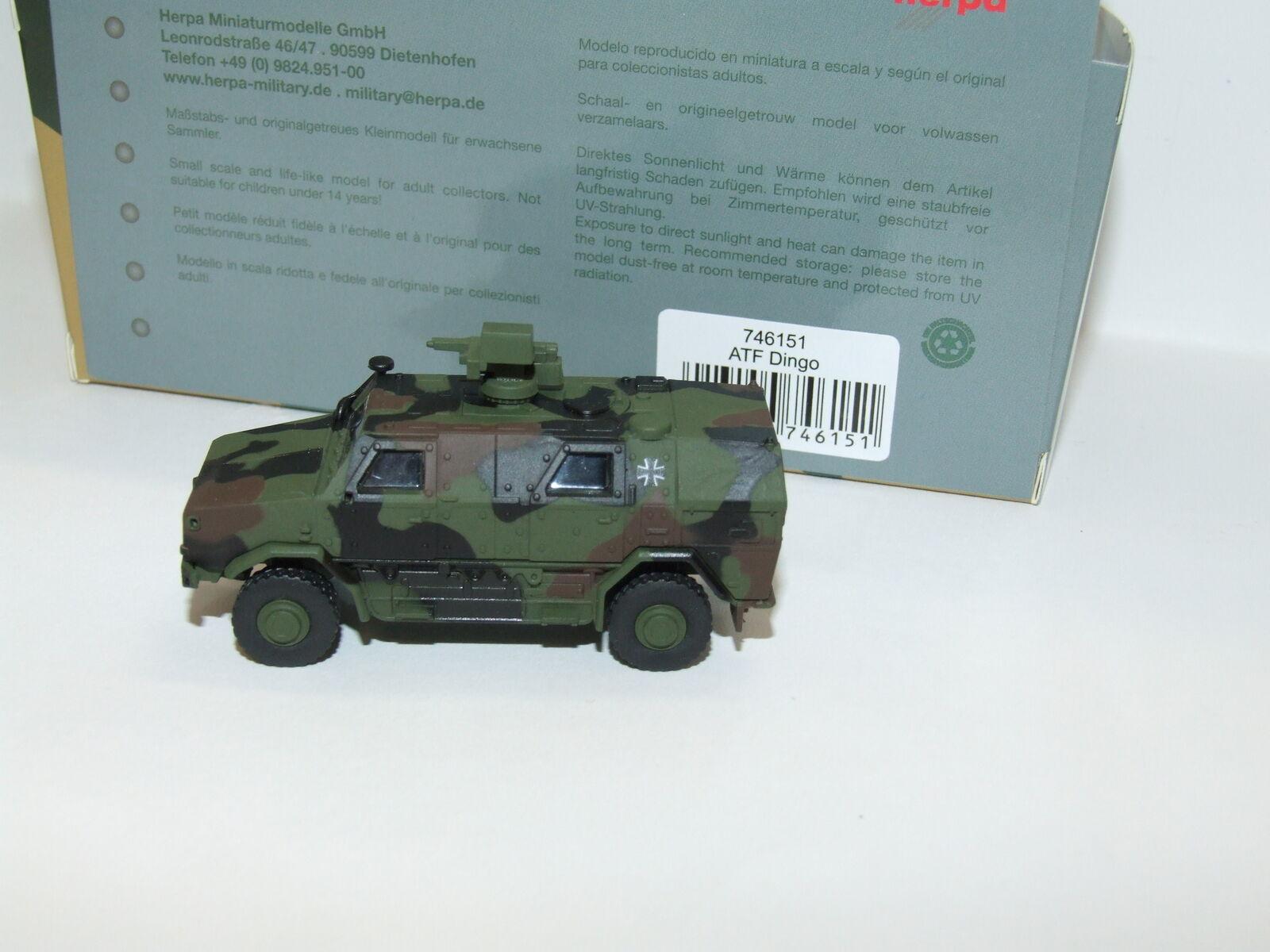 Herpa Military Military Military 746151 ATF Dingo mit FLW 100, dekoriert 1 87 d691a5