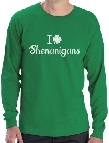 Patrick/'s Long Sleeve T-Shirt Gift Idea I Clover Shenanigans Funny St