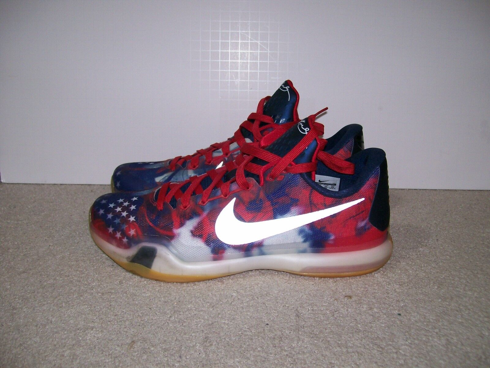 NIKE ZOOM KOBE X Independence Day ALL STAR 3D 705317 604 prelude grinch Predro