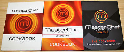 MasterChef Australia The Cookbook Volume 1, 2, 3 ** Signed By Poh & Andre **