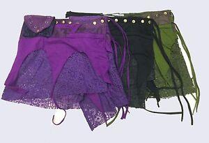 New-Ladies-Wrap-Mini-Pixie-skirt-Tribal-Hippie-Rave-3-pockets-Club-size-8-to-12